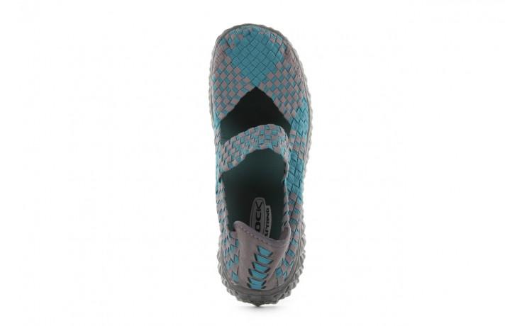 Sandały rock over petrol-grey, niebieski/ szary, materiał - rock - nasze marki 4