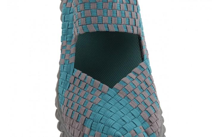 Sandały rock over petrol-grey, niebieski/ szary, materiał - rock - nasze marki 6
