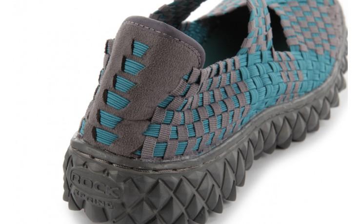 Sandały rock over petrol-grey, niebieski/ szary, materiał - rock - nasze marki 7