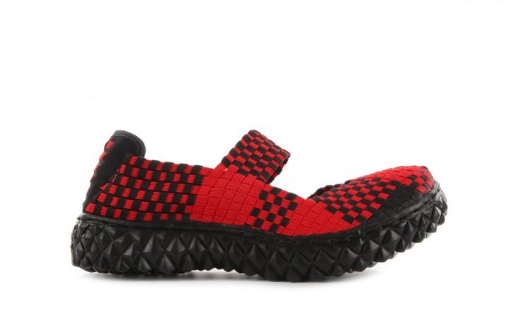 Sandały rock over red-black, czerwony/ czarny, materiał  - rock - nasze marki