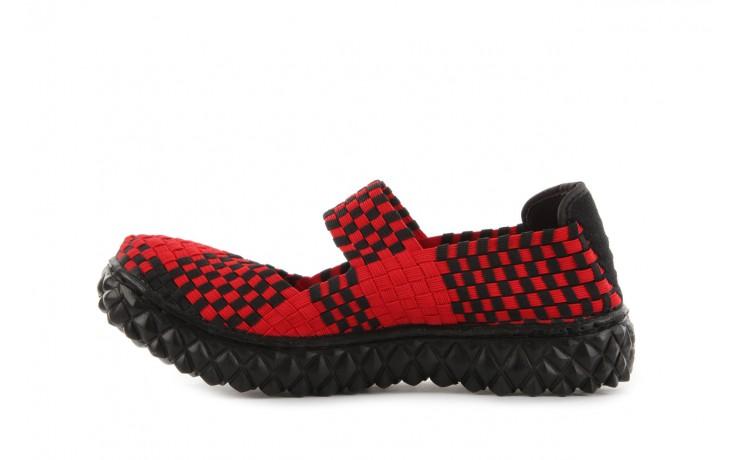 Sandały rock over red-black, czerwony/ czarny, materiał  - rock - nasze marki 2