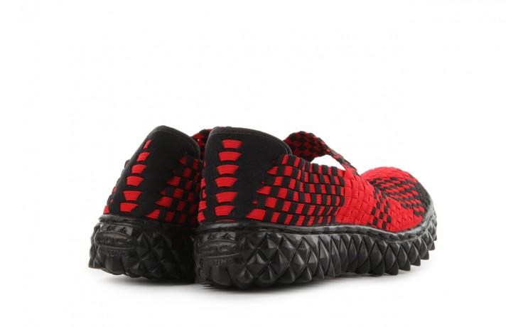 Sandały rock over red-black, czerwony/ czarny, materiał  - rock - nasze marki 3