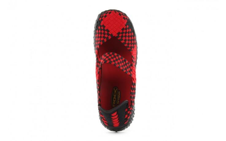 Sandały rock over red-black, czerwony/ czarny, materiał  - rock - nasze marki 4