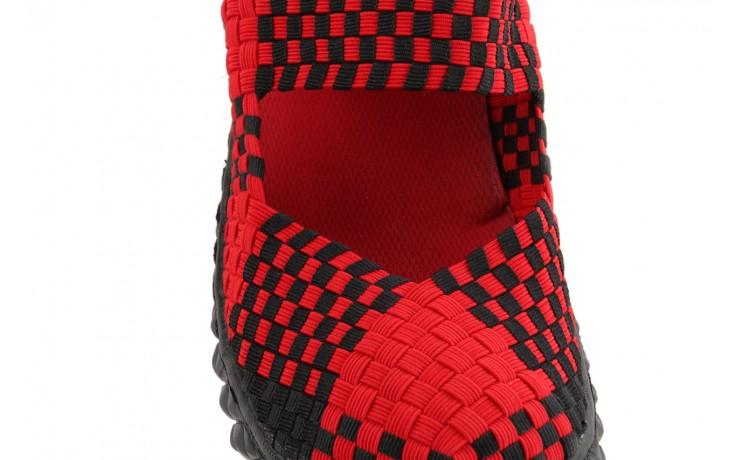 Sandały rock over red-black, czerwony/ czarny, materiał  - rock - nasze marki 6