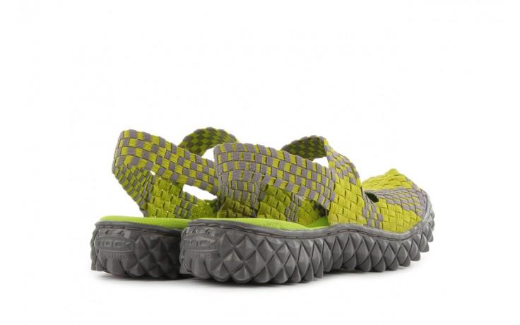 Sandały rock over sandal green-grey, zielony/ szary, materiał  - rock - nasze marki 3