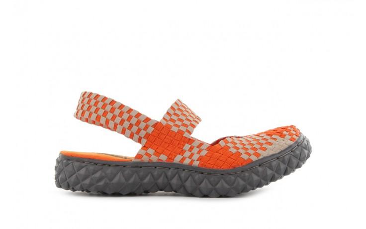 Sandały rock over sandal orange-beige, pomarańcz/beż, materiał