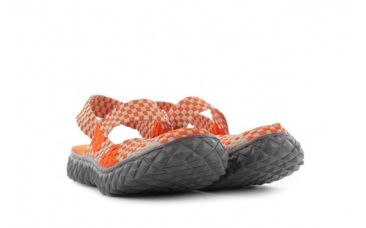 Sandały rock over sandal orange-beige, pomarańcz/beż, materiał 1