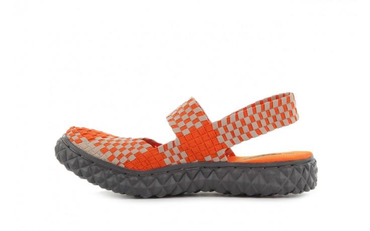 Sandały rock over sandal orange-beige, pomarańcz/beż, materiał 2