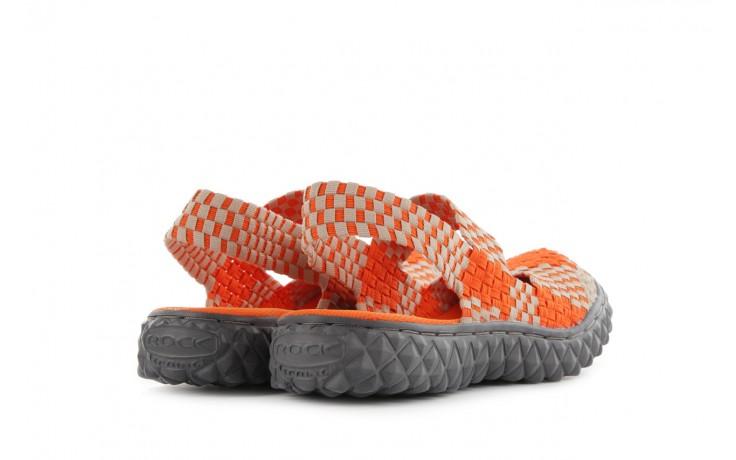 Sandały rock over sandal orange-beige, pomarańcz/beż, materiał 3