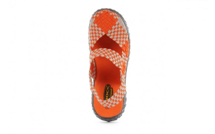 Sandały rock over sandal orange-beige, pomarańcz/beż, materiał 4
