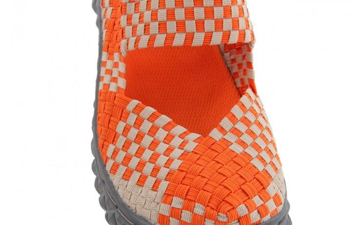 Sandały rock over sandal orange-beige, pomarańcz/beż, materiał 5