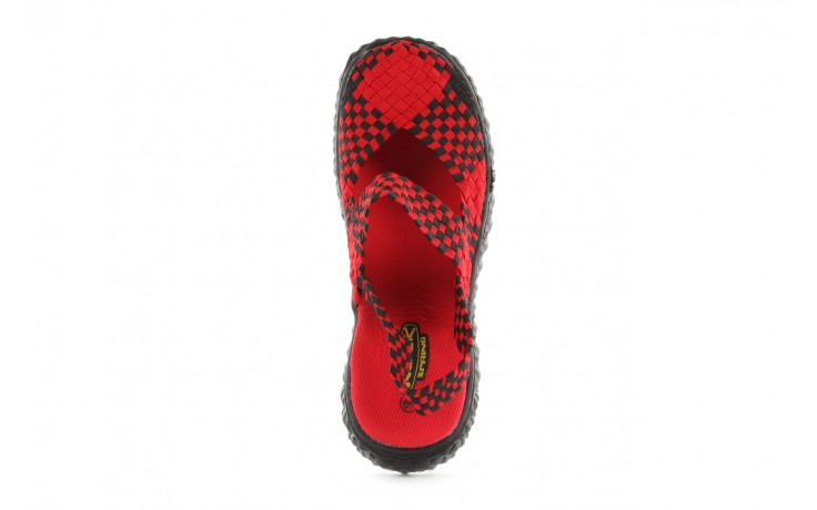 Sandały rock over sandal red-black, czarny/ czerwony, materiał - rock - nasze marki 4