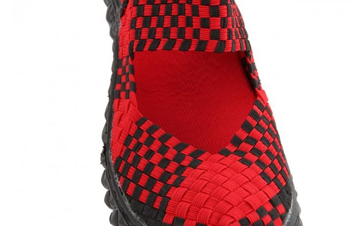 Sandały rock over sandal red-black, czarny/ czerwony, materiał - rock - nasze marki 5