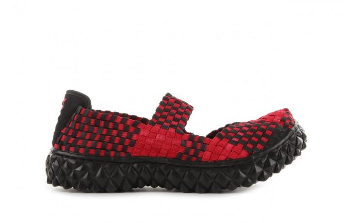 Sandały rock over washed red-black, czarny/ czerwony, materiał - rock - nasze marki