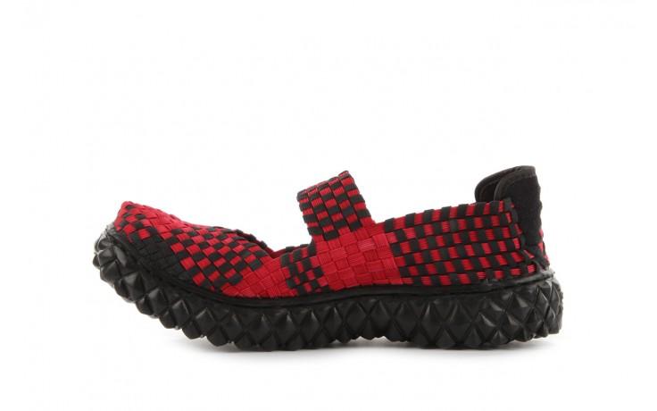 Sandały rock over washed red-black, czarny/ czerwony, materiał - rock - nasze marki 2