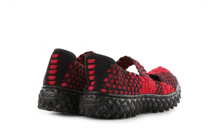 Sandały rock over washed red-black, czarny/ czerwony, materiał - rock - nasze marki 3