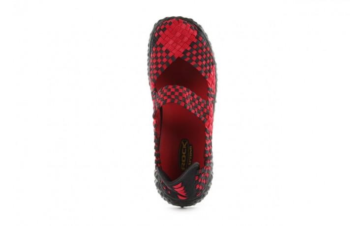 Sandały rock over washed red-black, czarny/ czerwony, materiał - rock - nasze marki 4