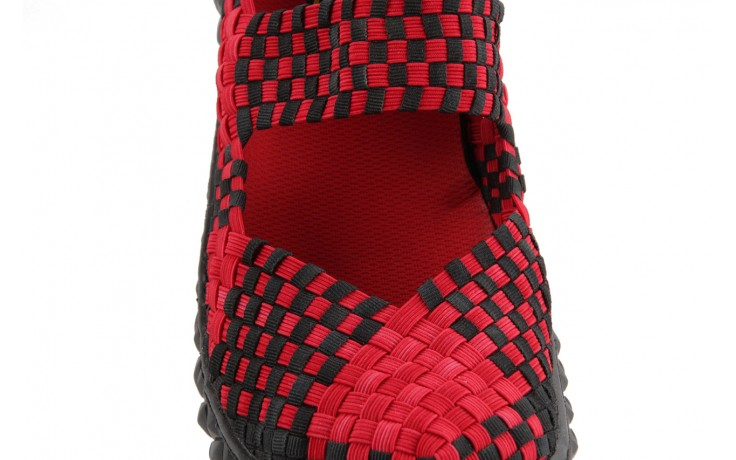 Sandały rock over washed red-black, czarny/ czerwony, materiał - rock - nasze marki 6