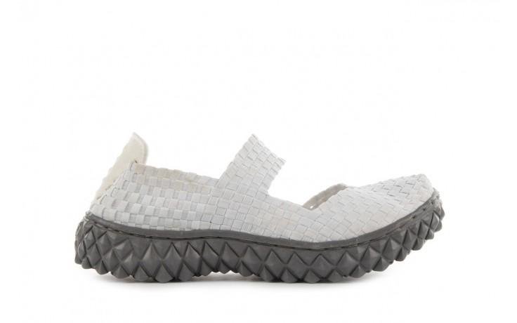 Sandały rock over white, biały, materiał
