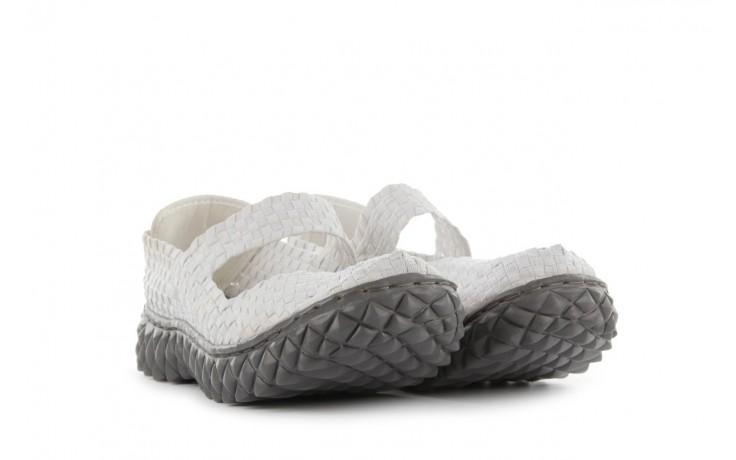 Sandały rock over white, biały, materiał 1