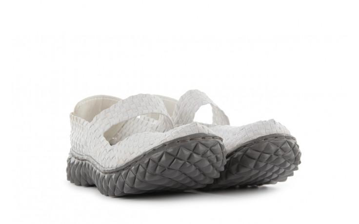 Sandały rock over white off white, biały, materiał - rock - nasze marki 1