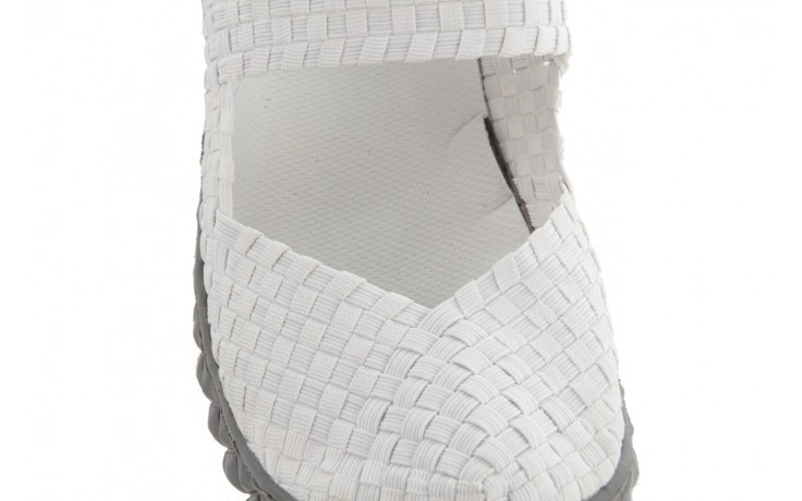 Sandały rock over white, biały, materiał 6