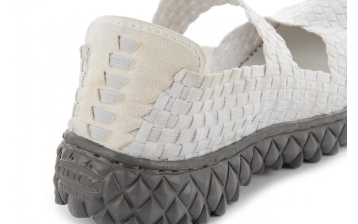 Sandały rock over white, biały, materiał 5