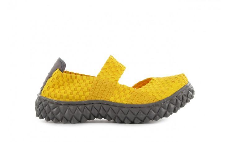 Sandały rock over yellow, żółty, materiał