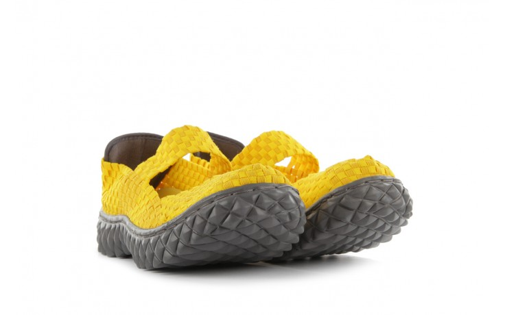 Sandały rock over yellow, żółty, materiał 1