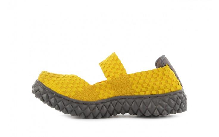 Sandały rock over yellow, żółty, materiał 2