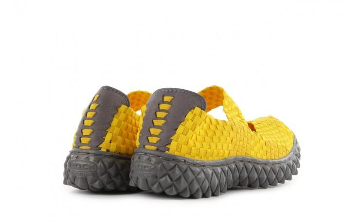 Sandały rock over yellow, żółty, materiał 3