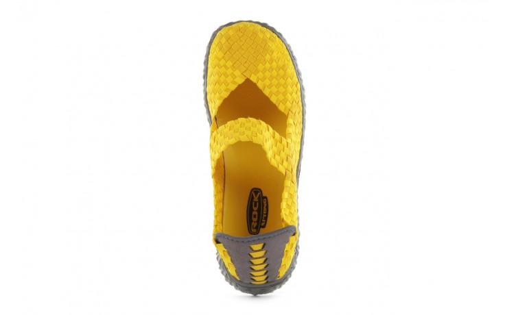 Sandały rock over yellow, żółty, materiał 4