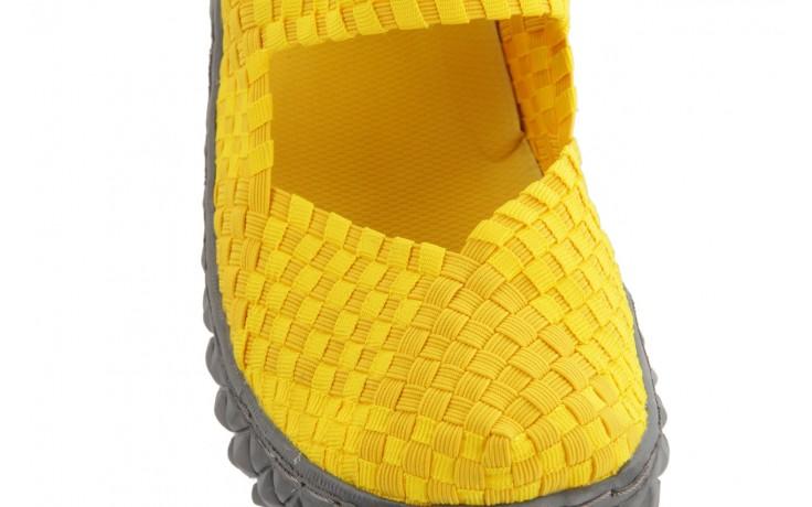 Sandały rock over yellow, żółty, materiał 5