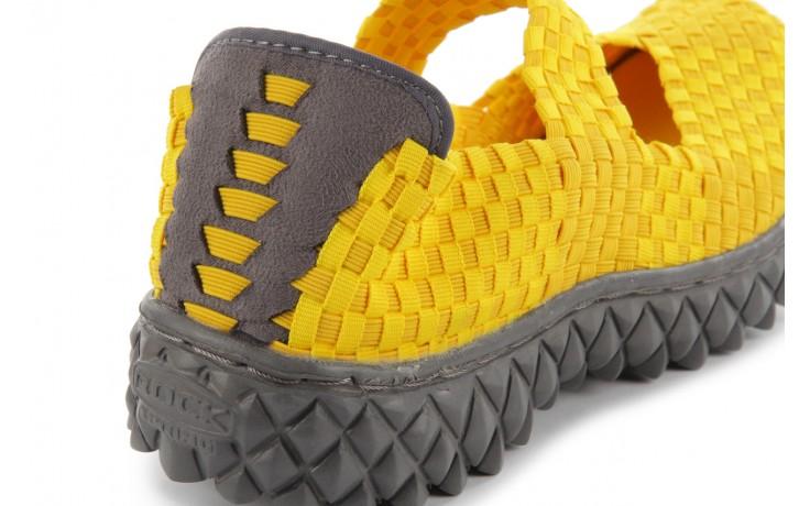 Sandały rock over yellow, żółty, materiał 6