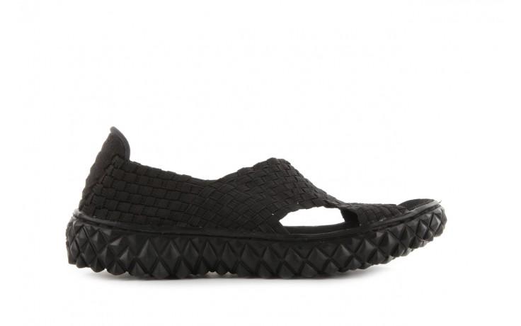 Sandały rock romus black, czarny, materiał - rock - nasze marki