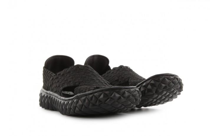 Sandały rock romus black, czarny, materiał - rock - nasze marki 1