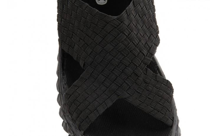 Sandały rock romus black, czarny, materiał - rock - nasze marki 4