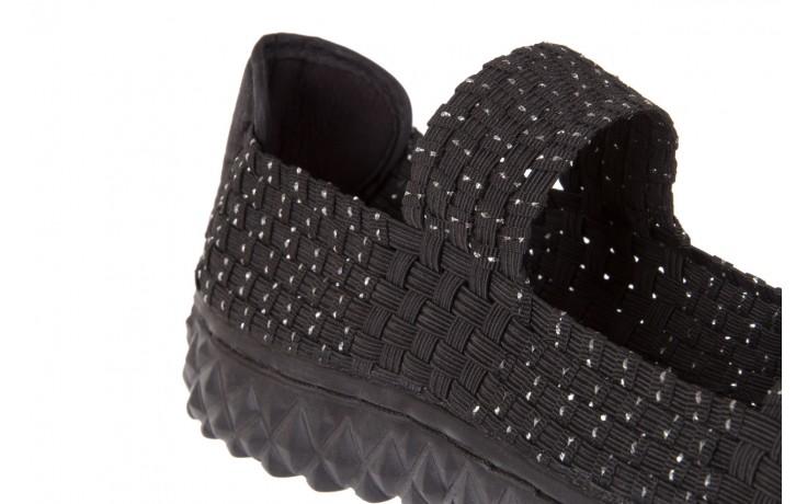 Sandały rock sandal 2 closed black-silver, czarny/srebrny, materiał - rock - nasze marki 5
