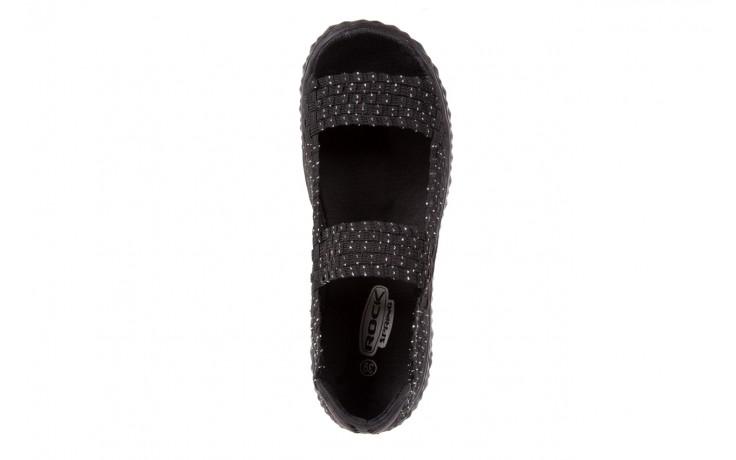Sandały rock sandal 2 closed black-silver, czarny/srebrny, materiał - rock - nasze marki 4