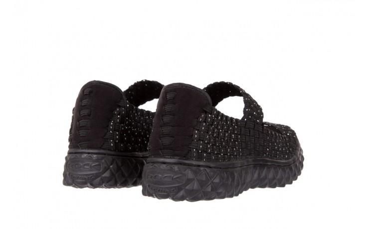 Sandały rock sandal 2 closed black-silver, czarny/srebrny, materiał - rock - nasze marki 3
