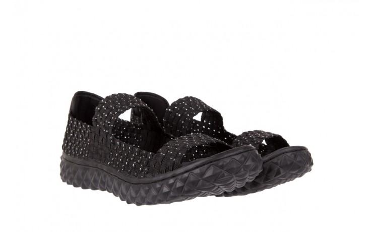 Sandały rock sandal 2 closed black-silver, czarny/srebrny, materiał - rock - nasze marki 1