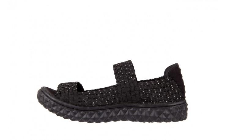 Sandały rock sandal 2 closed black-silver, czarny/srebrny, materiał - rock - nasze marki 2