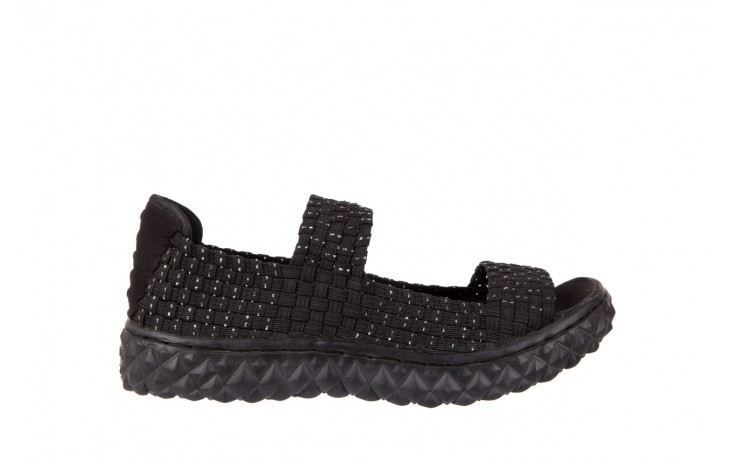 Sandały rock sandal 2 closed black-silver, czarny/srebrny, materiał - rock - nasze marki