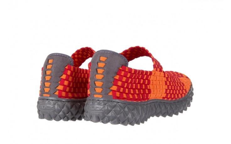Sandały rock sandal 2 closed orange-bordo, pomarańczowy/ bordowy, materiał - rock - nasze marki 3