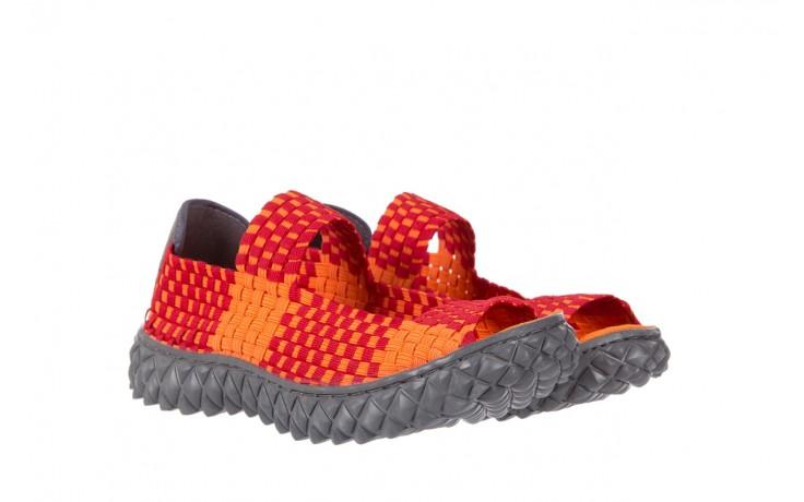 Sandały rock sandal 2 closed orange-bordo, pomarańczowy/ bordowy, materiał - rock - nasze marki 1