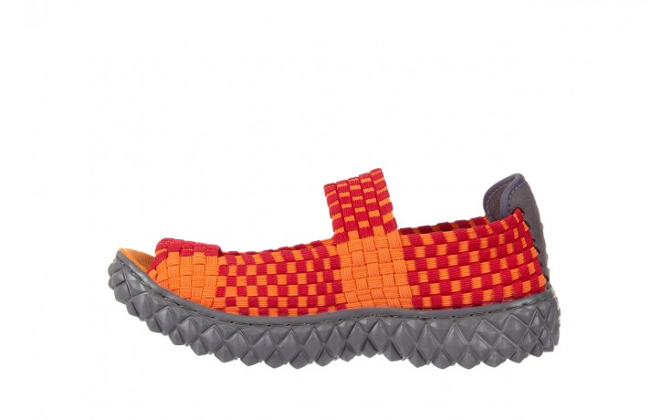 Sandały rock sandal 2 closed orange-bordo, pomarańczowy/ bordowy, materiał - rock - nasze marki 2