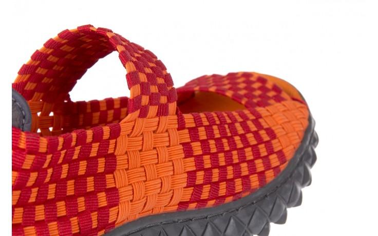 Sandały rock sandal 2 closed orange-bordo, pomarańczowy/ bordowy, materiał - rock - nasze marki 5