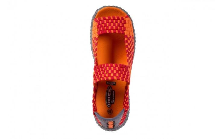 Sandały rock sandal 2 closed orange-bordo, pomarańczowy/ bordowy, materiał - rock - nasze marki 4