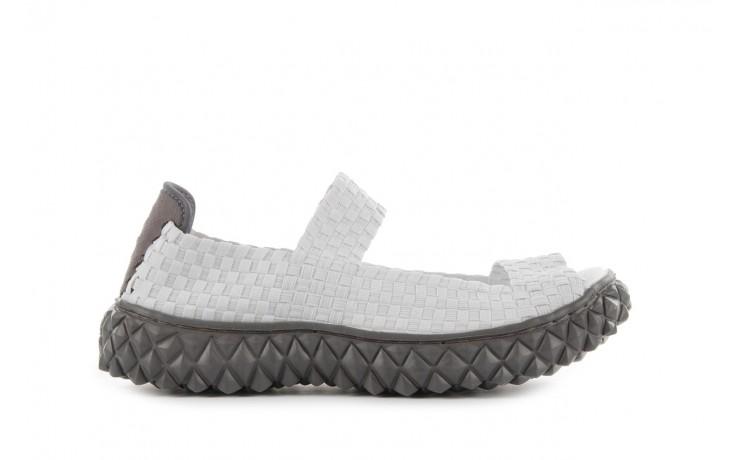 Sandały rock sandal 2 closed white, białe, materiał