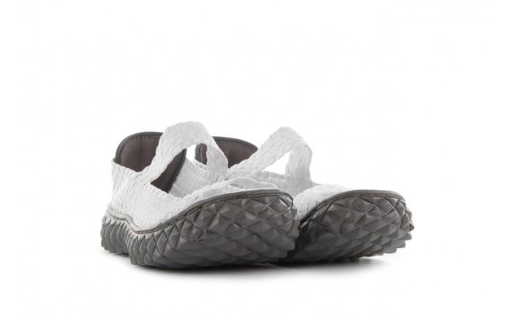 Sandały rock sandal 2 closed white, białe, materiał 1